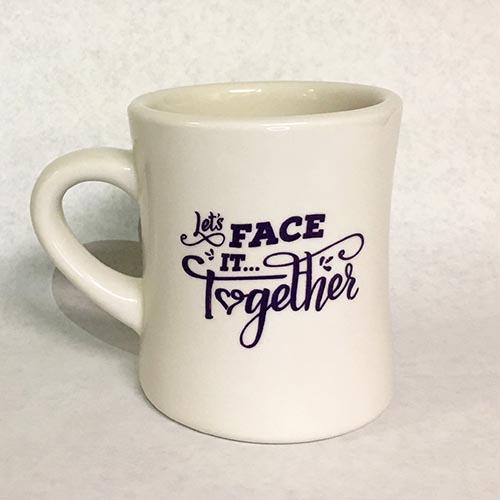 Lets Face It Together ALZGLA Mug Front