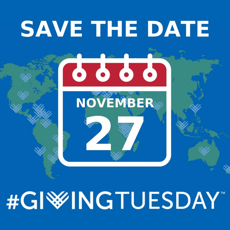 #GivingTuesday save-the-date Nov 27 2018