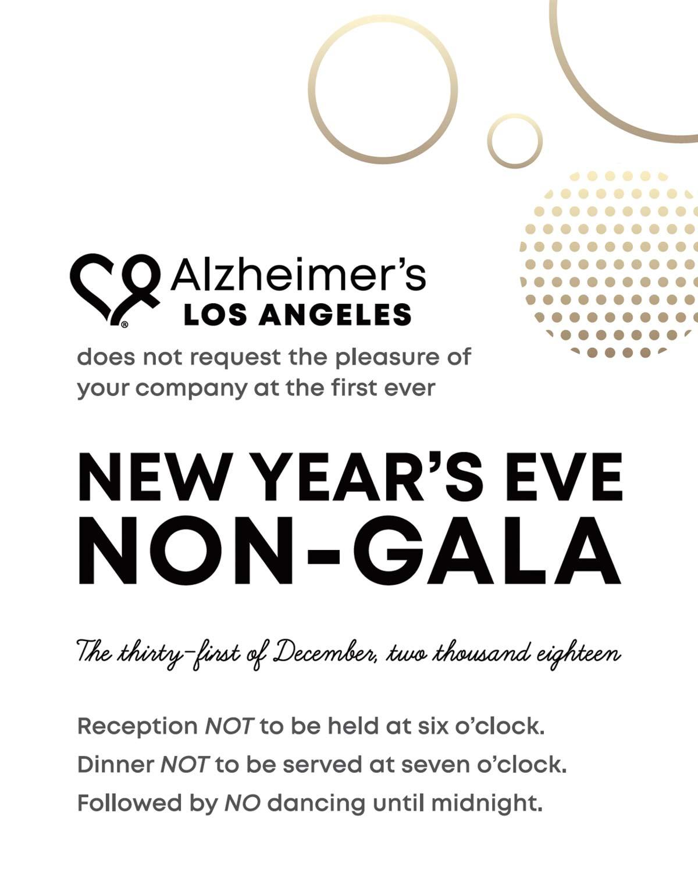 non-gala invitation