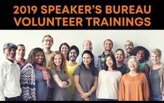 speaker's bureau trainings